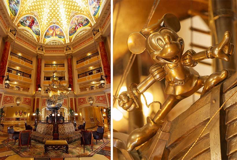 ロビーとミッキーマウスの彫刻の画像