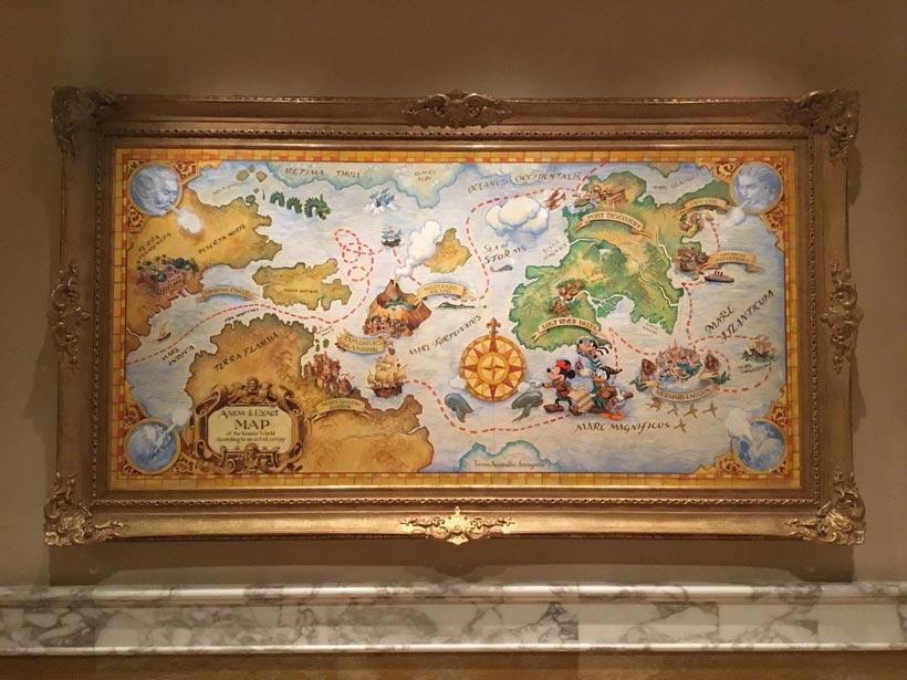 古代風の地図の画像