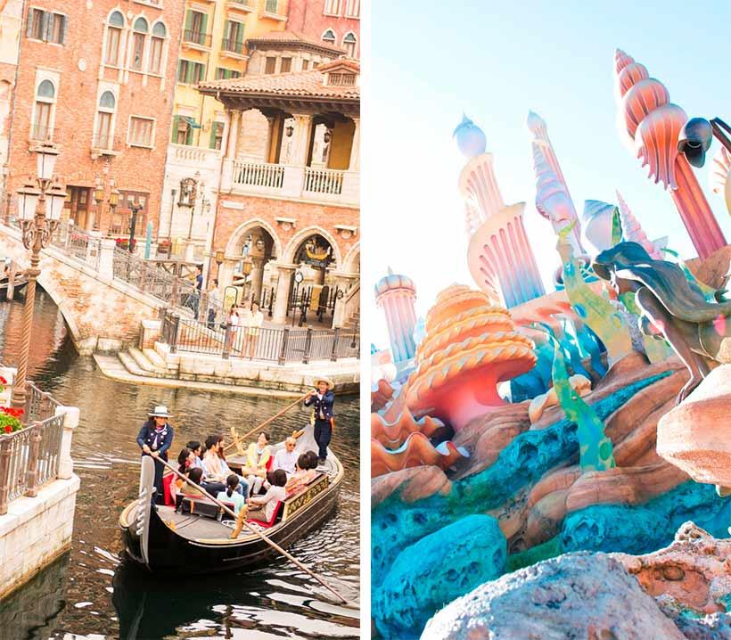 「ヴェネツィアン・ゴンドラ」とマーメイドラグーンの風景画像