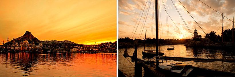 メディテレーニアンハーバーとケープコッドの夕景画像