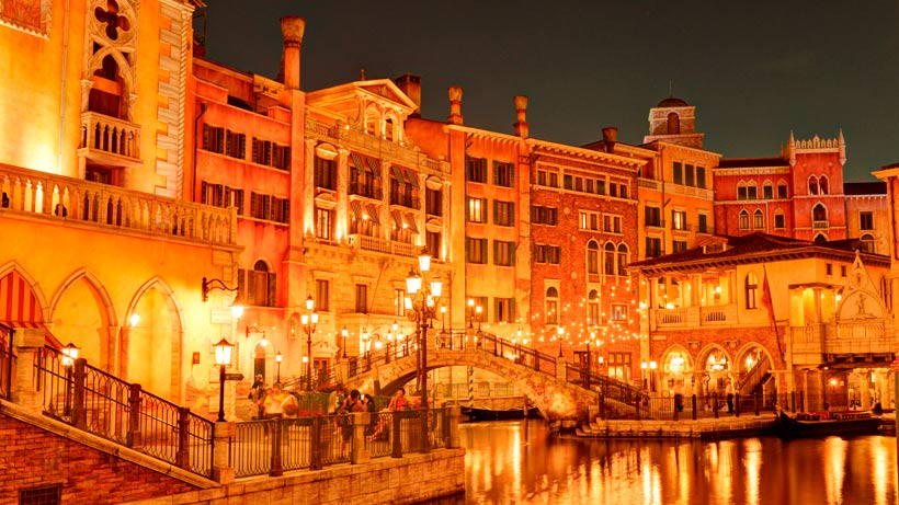 パラッツォ・カナルの夕景画像