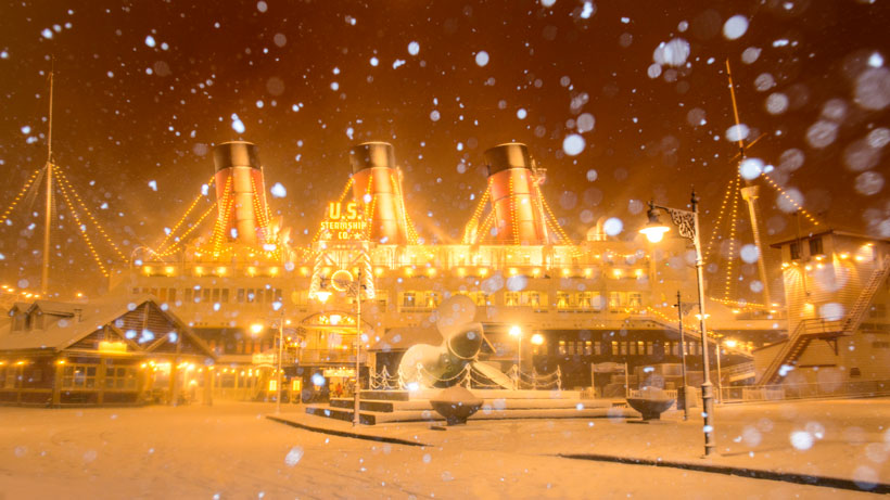 S.S.コロンビア号の雪景色の画像