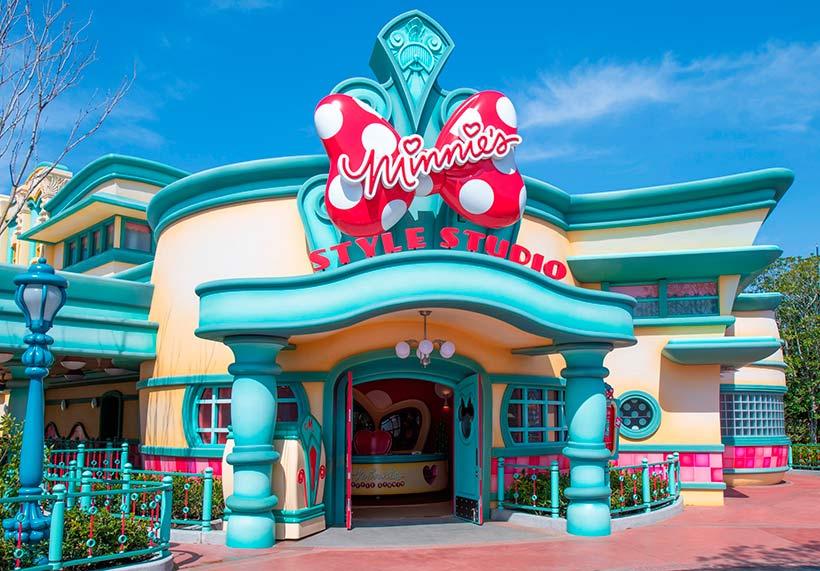 グリーティング施設「ミニーのスタイルスタジオ」の外観の画像