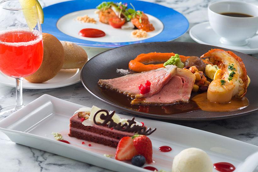 ブルーバイユー・レストランのクリスマスコース