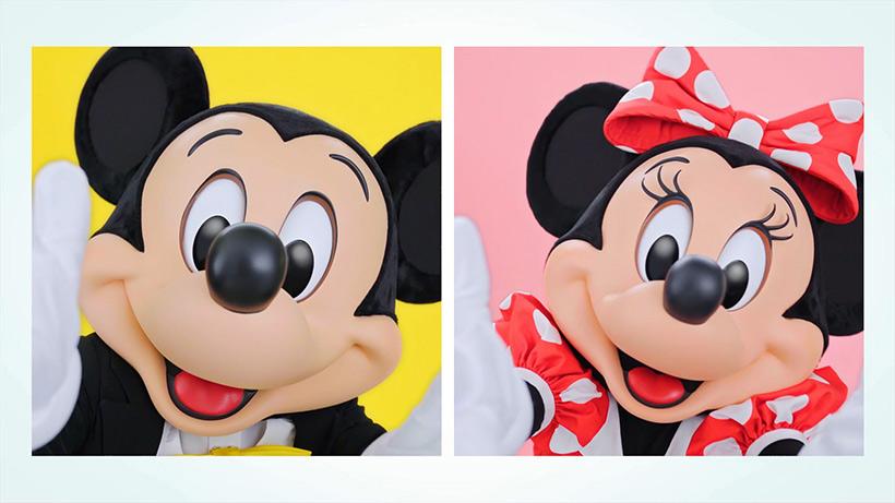 ミッキーとミニーがアップに写っている画像