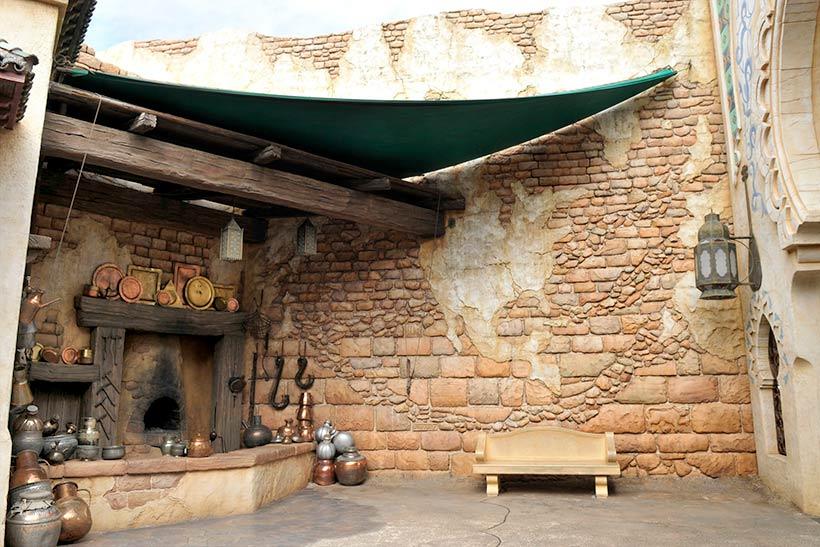アラビアンコーストの壁