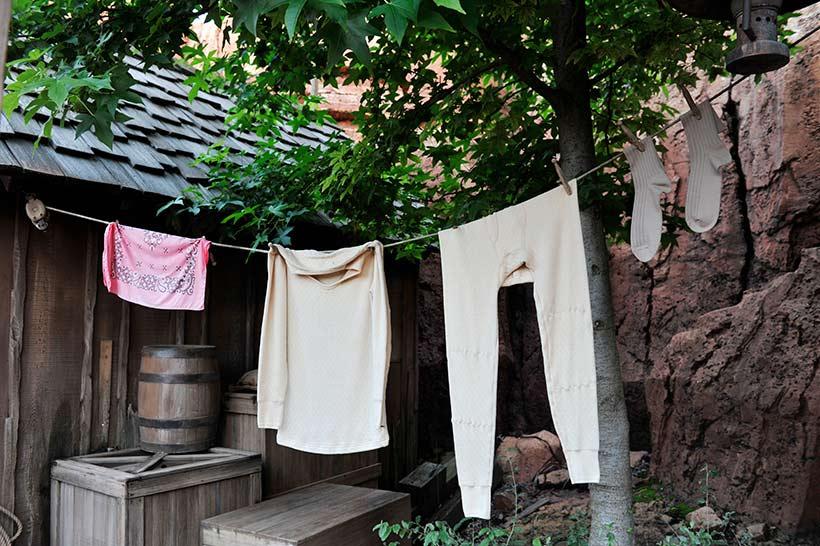 干された洗濯物の画像