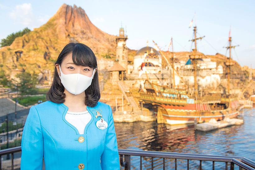 東京ディズニーリゾート・アンバサダーとメディテレーニアンハーバーの風景