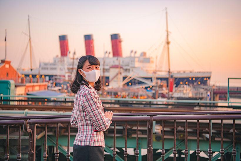 東京ディズニーリゾート・アンバサダーとアメリカンウォーターフロントの風景