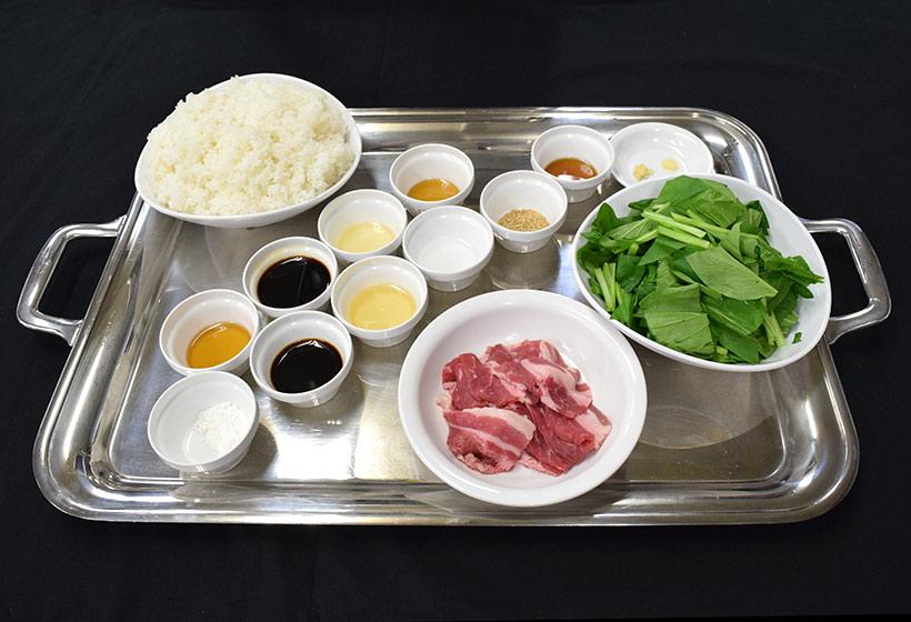 おにぎりサンド(牛カルビ)のレシピの材料