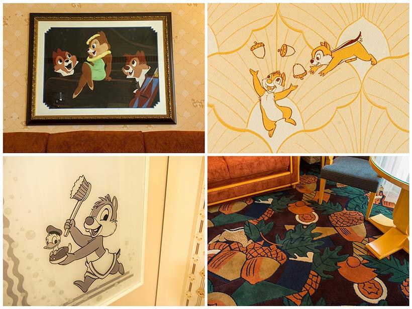 チップとデールとクラリスのモチーフの画像
