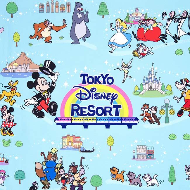 ディズニーキャラクターがたくさん描かれたデザインの画像