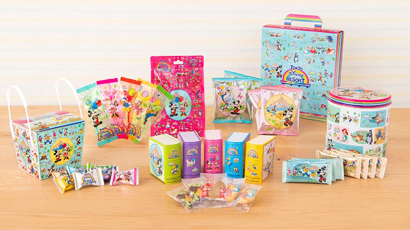 カラフルなお菓子の集合の画像
