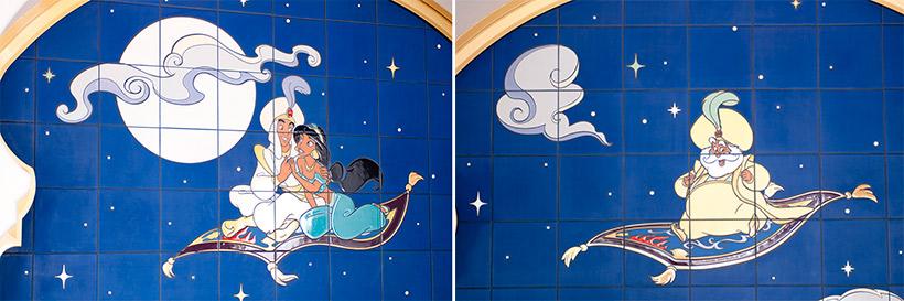 アラジンとジャスミン、サルタン王の壁画の画像