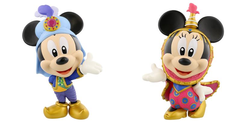 ミッキーマウスとミニーマウスのフィギュアリンの画像