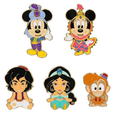 ミッキーマウス、ミニーマウス、アラジン、ジャスミン、アブーのチャームの画像