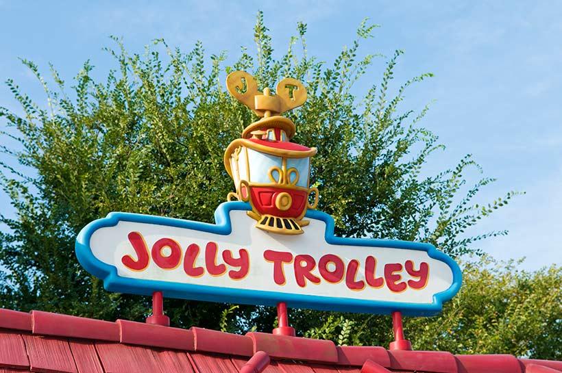 ジョリートロリーの乗り場の看板の画像
