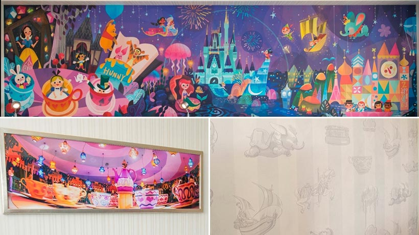 東京ディズニーセレブレーションホテルの客室の壁紙の画像