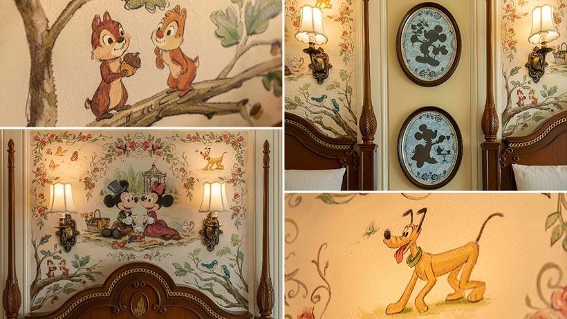 ディズニーキャラクターがデザインされた客室の画像