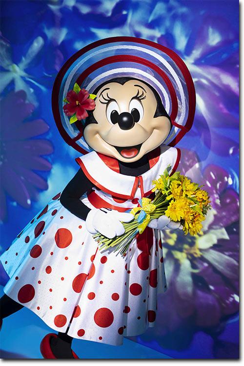 ドット柄のコスチュームを身にまとったミニーの画像2