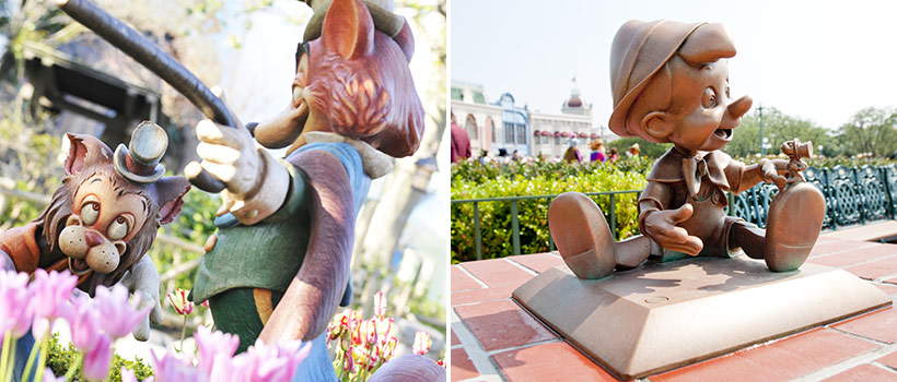 ディズニー映画『ピノキオ』に登場するキャラクターたちの画像