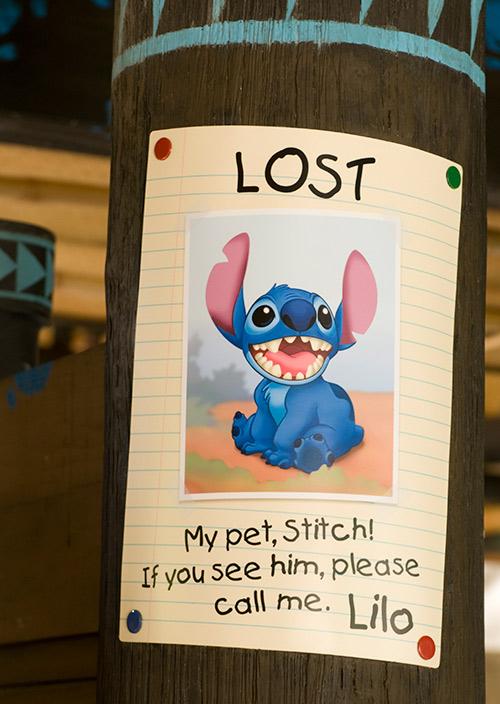 リロが描いた迷子のポスターの画像