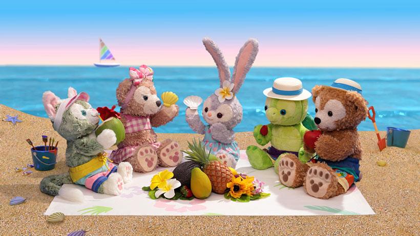 みんなで浜辺で休んでいるシーンの画像