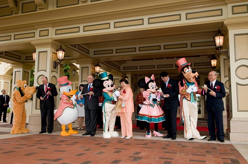 東京ディズニーランドホテルのセレモニーの様子