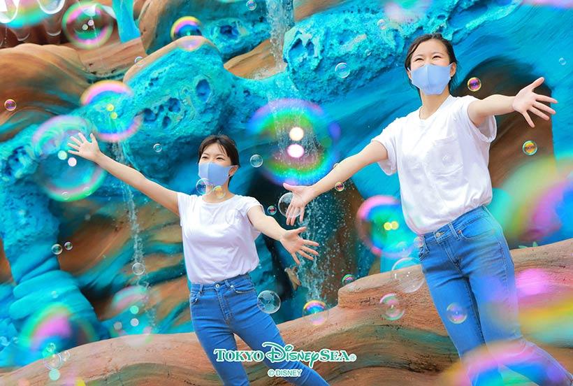 シャボン玉の泡を用いた写真