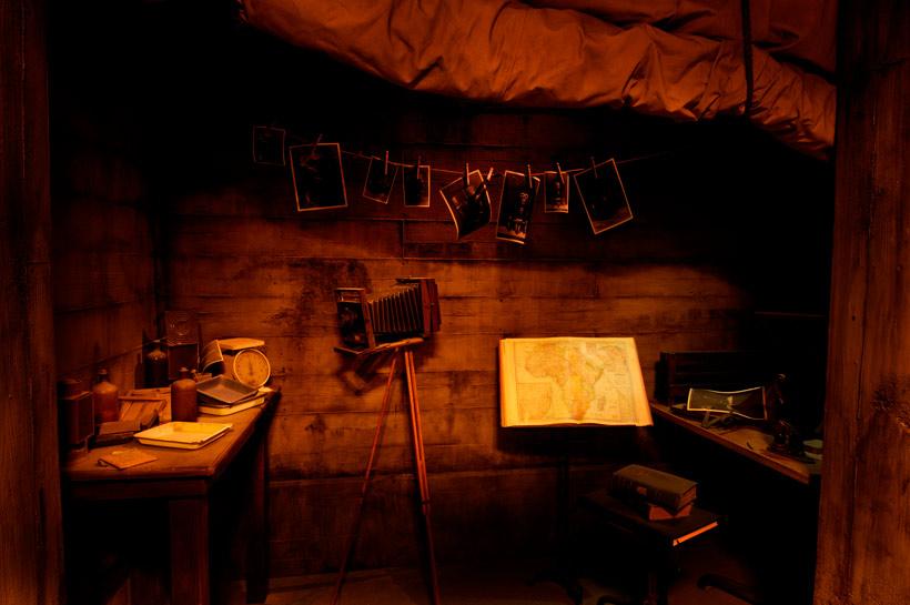 撮影をする部屋