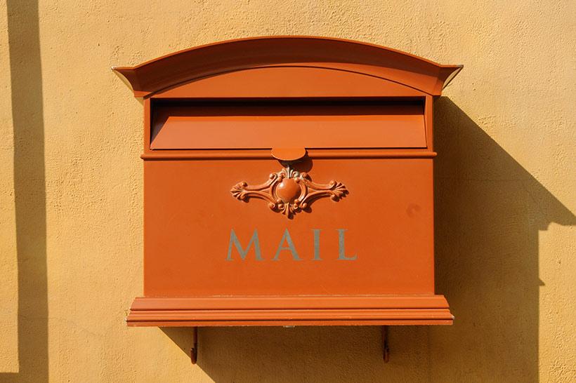 メディテレーニアンハーバーのメールボックス