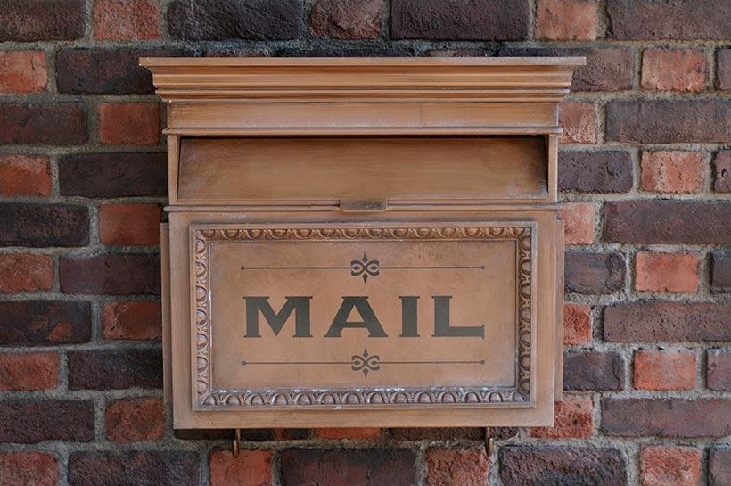 アメリカンウォーターフロントのメールボックス