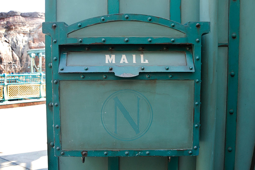 ミステリアスアイランドのメールボックス