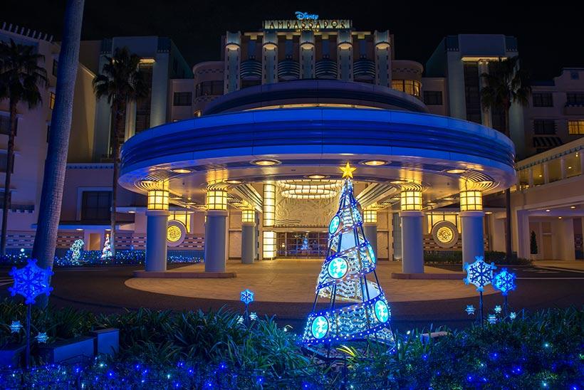 ディズニーアンバサダーホテルのイルミネーション画像