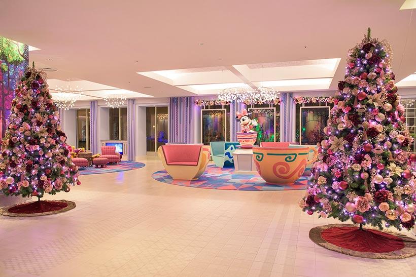 東京ディズニーセレブレーションホテルウィッシュのデコレーションの画像