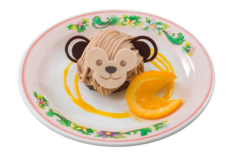 ミルクチョコレートで再現されたダッフィーのケーキの画像