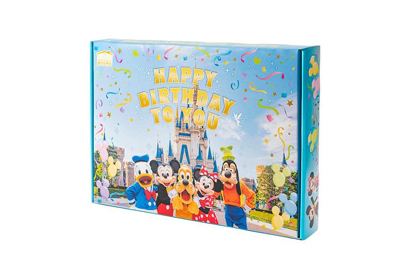 ディズニーの仲間たちをあしらったボックス