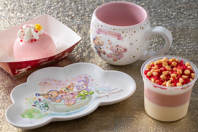 ピーチ・バニラムースケーキとストロベリー&ホワイトチョコムースの画像