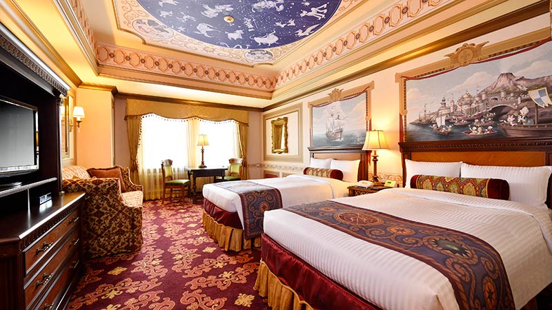 ディズニーの仲間たちの航海をテーマにした客室のイメージ