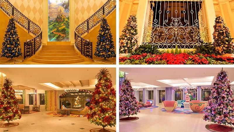 ディズニーホテルのクリスマスのイメージ
