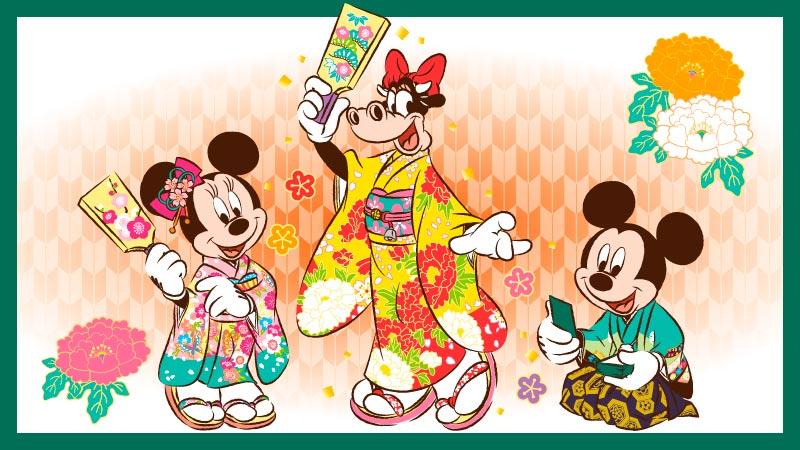 東京ディズニーリゾートのお正月のイメージ