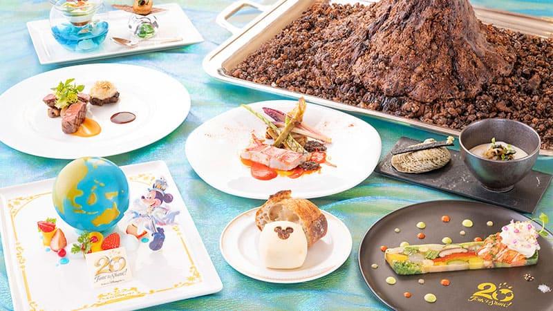 東京ディズニーシー20周年を記念したスペシャルメニューのイメージ