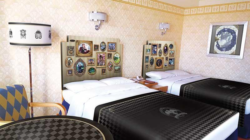 ディズニーアンバサダーホテルにゲーム『ディズニー ツイステッドワンダーランド』をテーマにした客室とケーキセットが期間限定で初登場!のイメージ