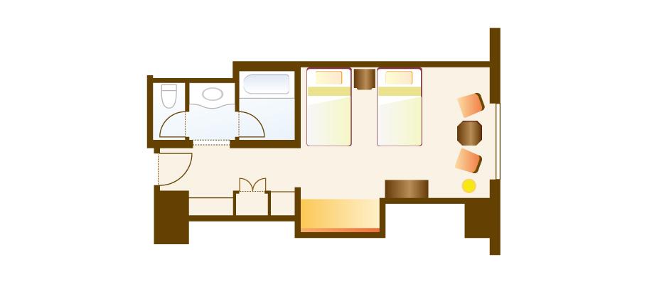 슈피리어 앨코브 룸(파크 뷰)のレイアウト1