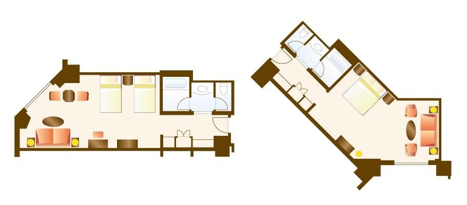 豪华客房のレイアウト1