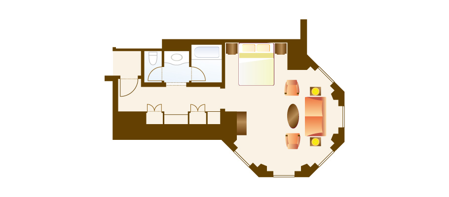image of Corner Roomのレイアウト1