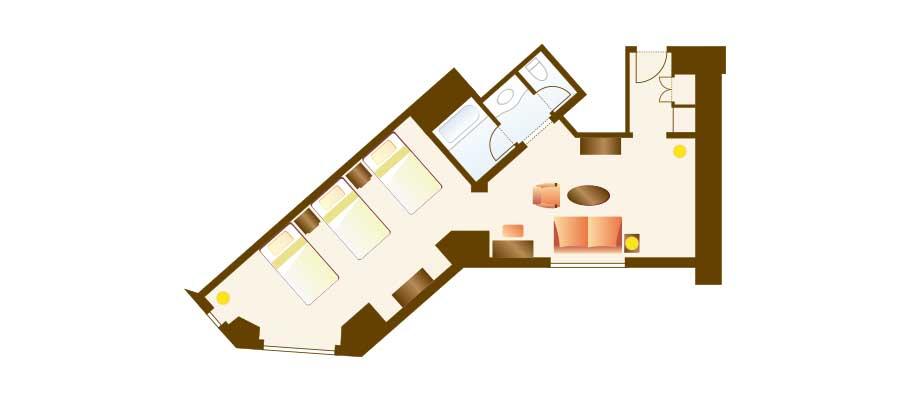image of Junior Family Room (Park View)のレイアウト1