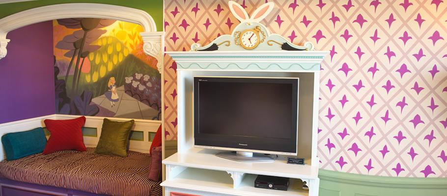 迪士尼爱丽丝梦游仙境客房的图像4