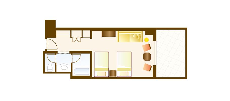 image of Balcony Room (Park Grand View)のレイアウト1