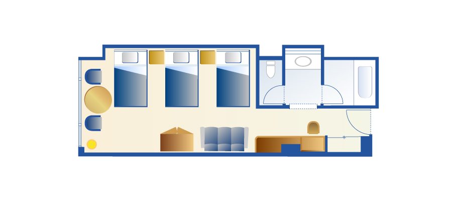image of Triple Roomのレイアウト1